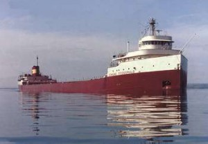 Edmund Fitzgerald, St. Mary's River, 1975. Photo by Bob Campbell