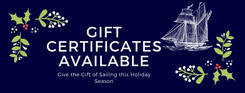 gift certificate for schooner Freedom charters